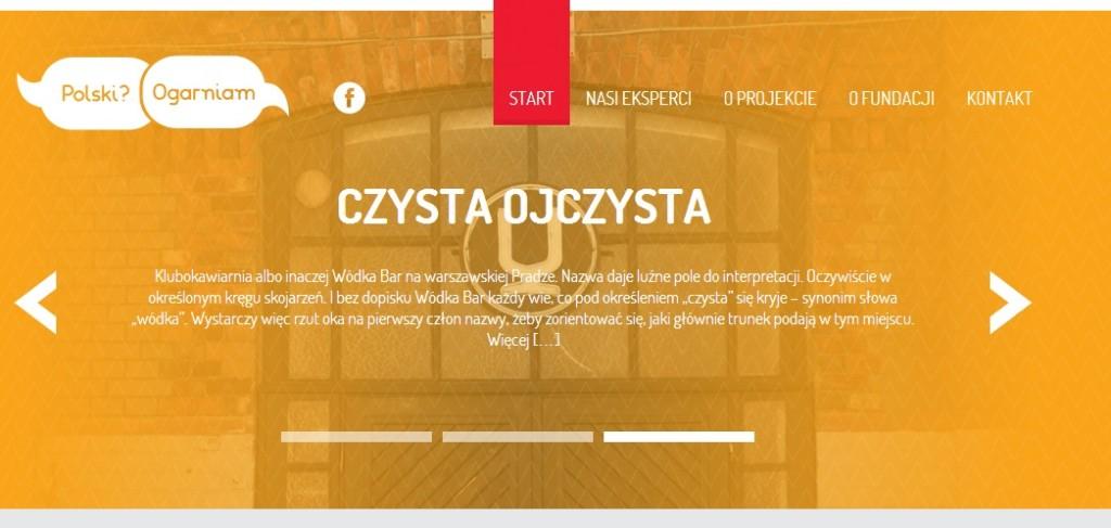 Strona internetowa projektu polskiogrniam.pl